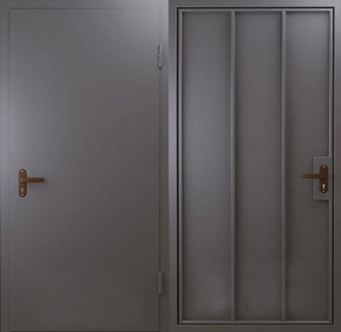 металлическая входная дверь без отделки